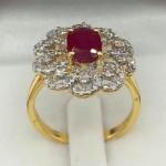 แหวนทับทิมเพชร