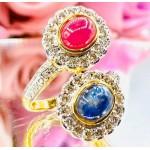 แหวนเพชรไพลินและทับทิม