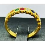 แหวนหลากสีประดับเพชร