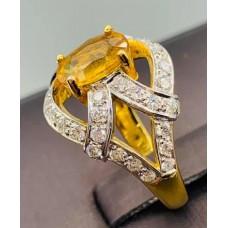 ขายแหวนเพชรบุษราคัม