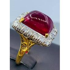 แหวนเพชรทับทิมโบราณ
