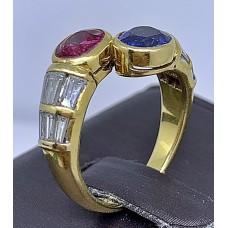 แหวนเพชรทับทิม