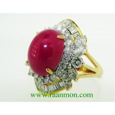 แหวนผู้หญิงทับทิมพม่าสีสวยเข้าตา